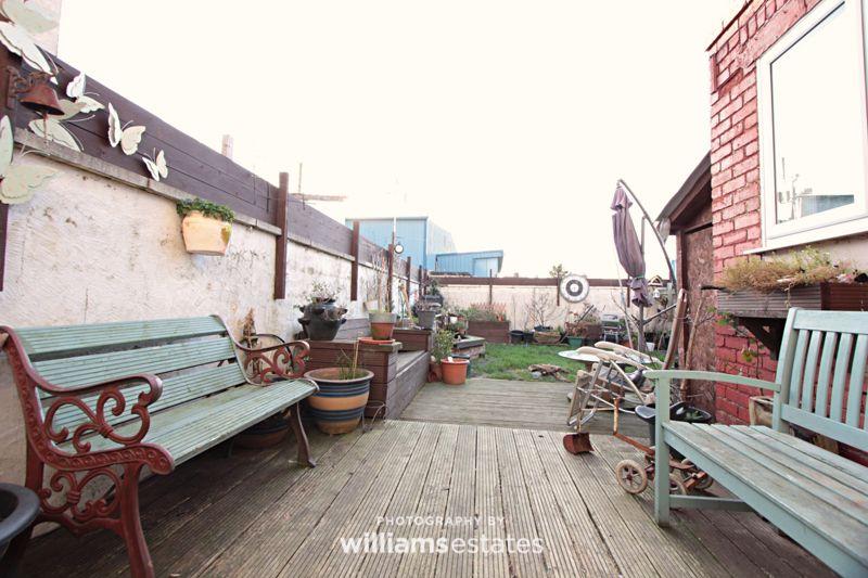 rear decked patio