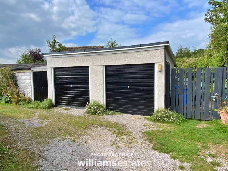 Double garage with store area behind