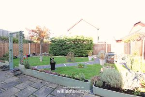 patio and lawned garden