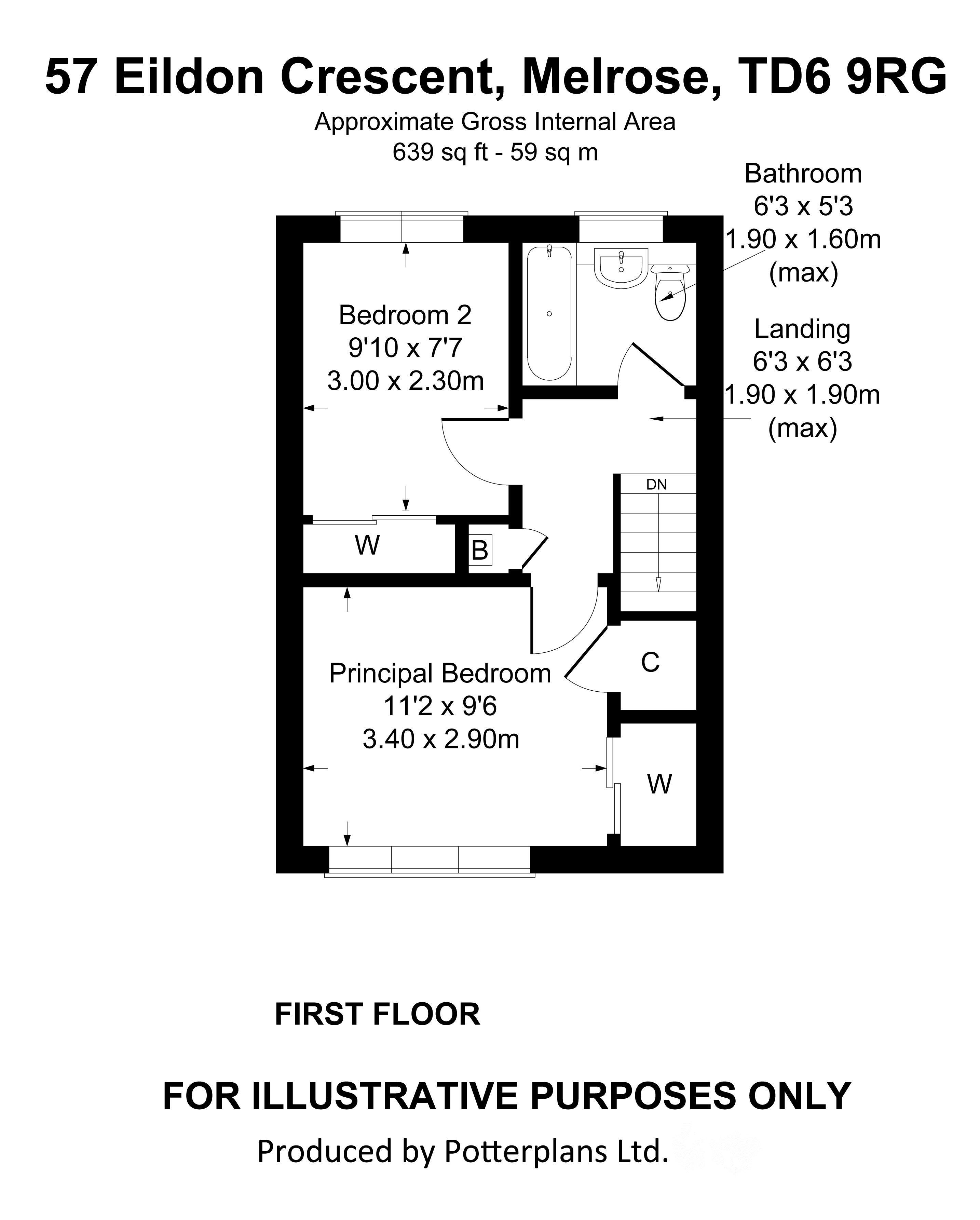 57 Eildon Crescent First Floor