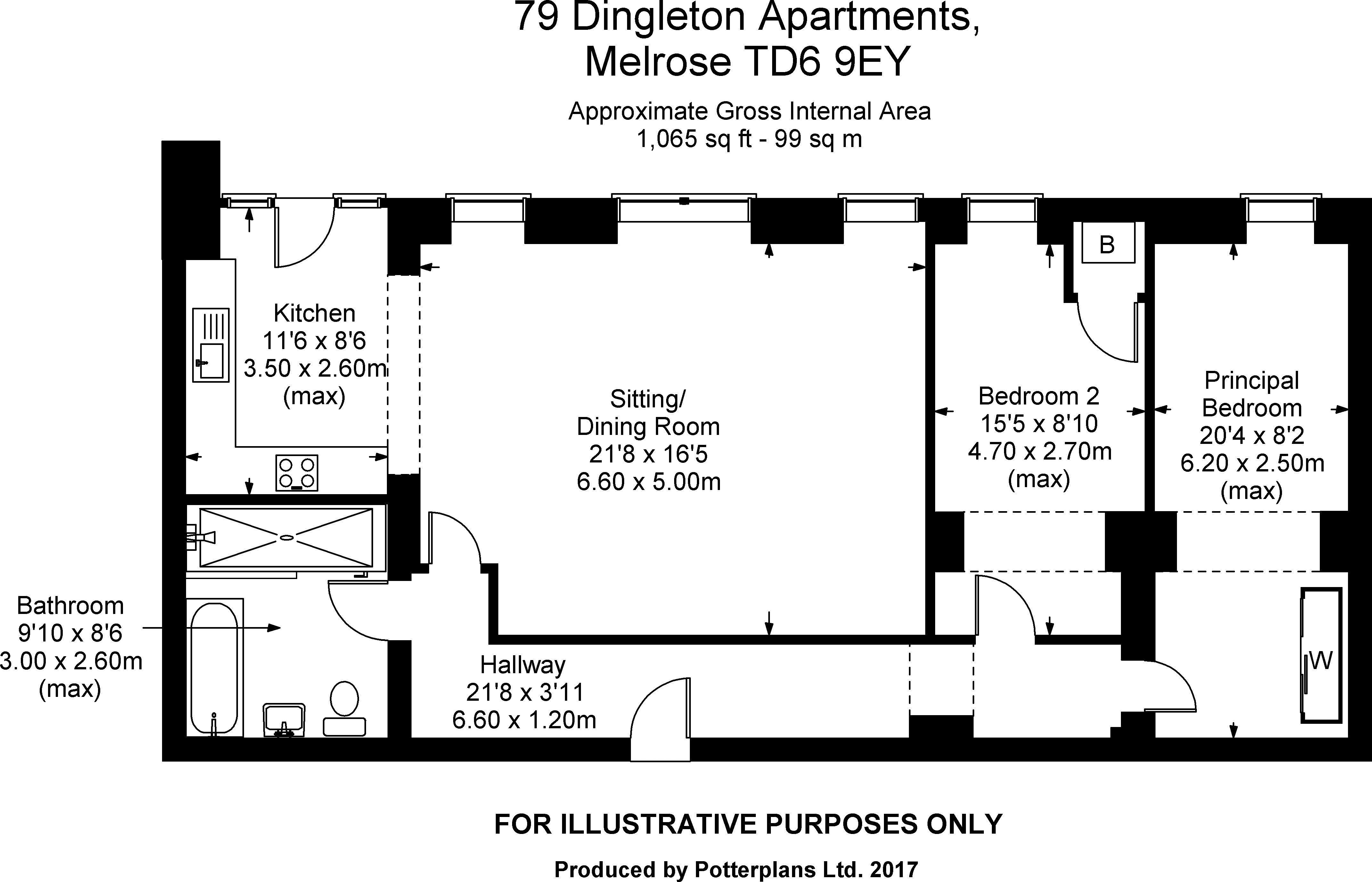 79 Dingleton Apartments Floorplan