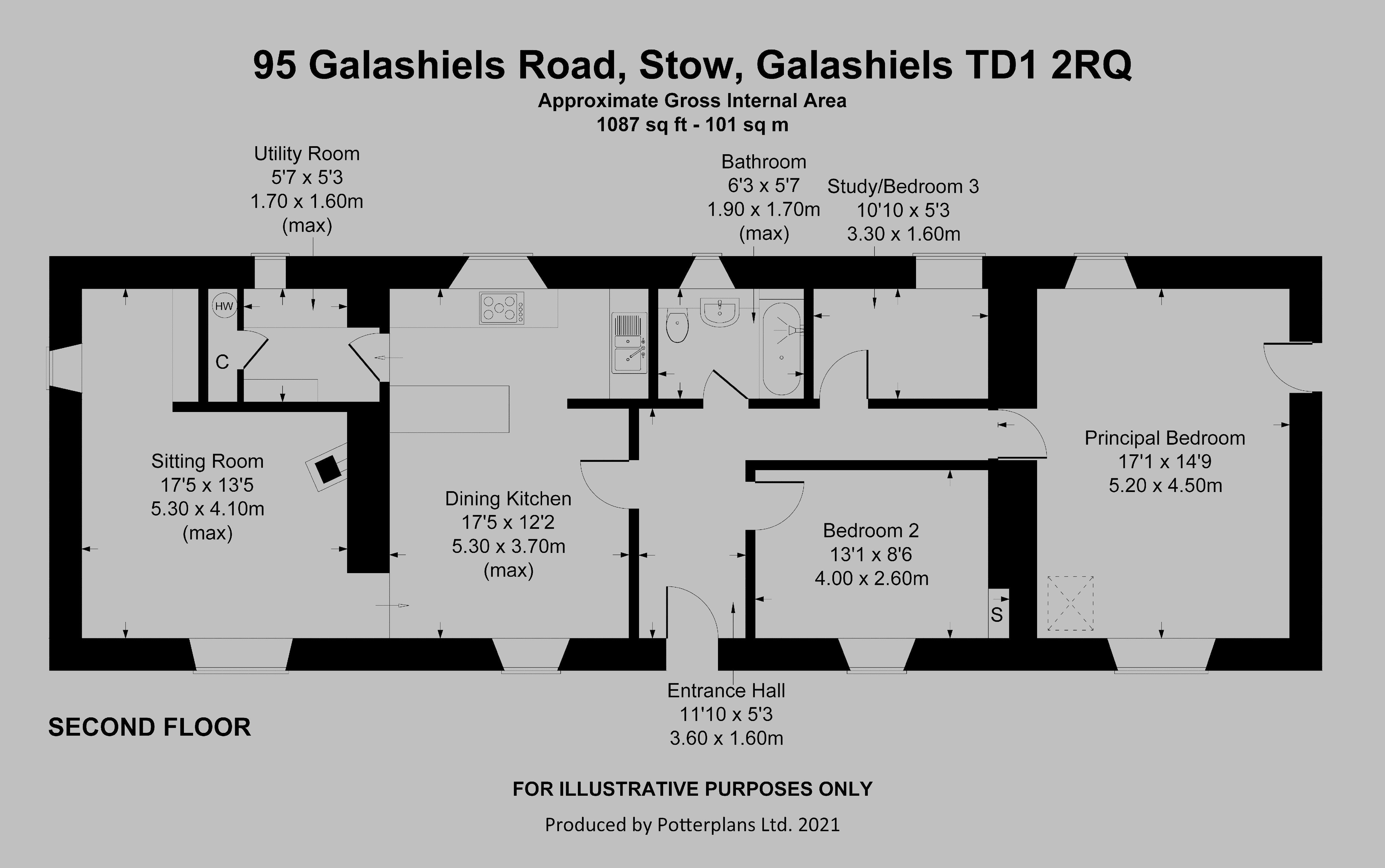 95 Galashiels Road Ground Floor