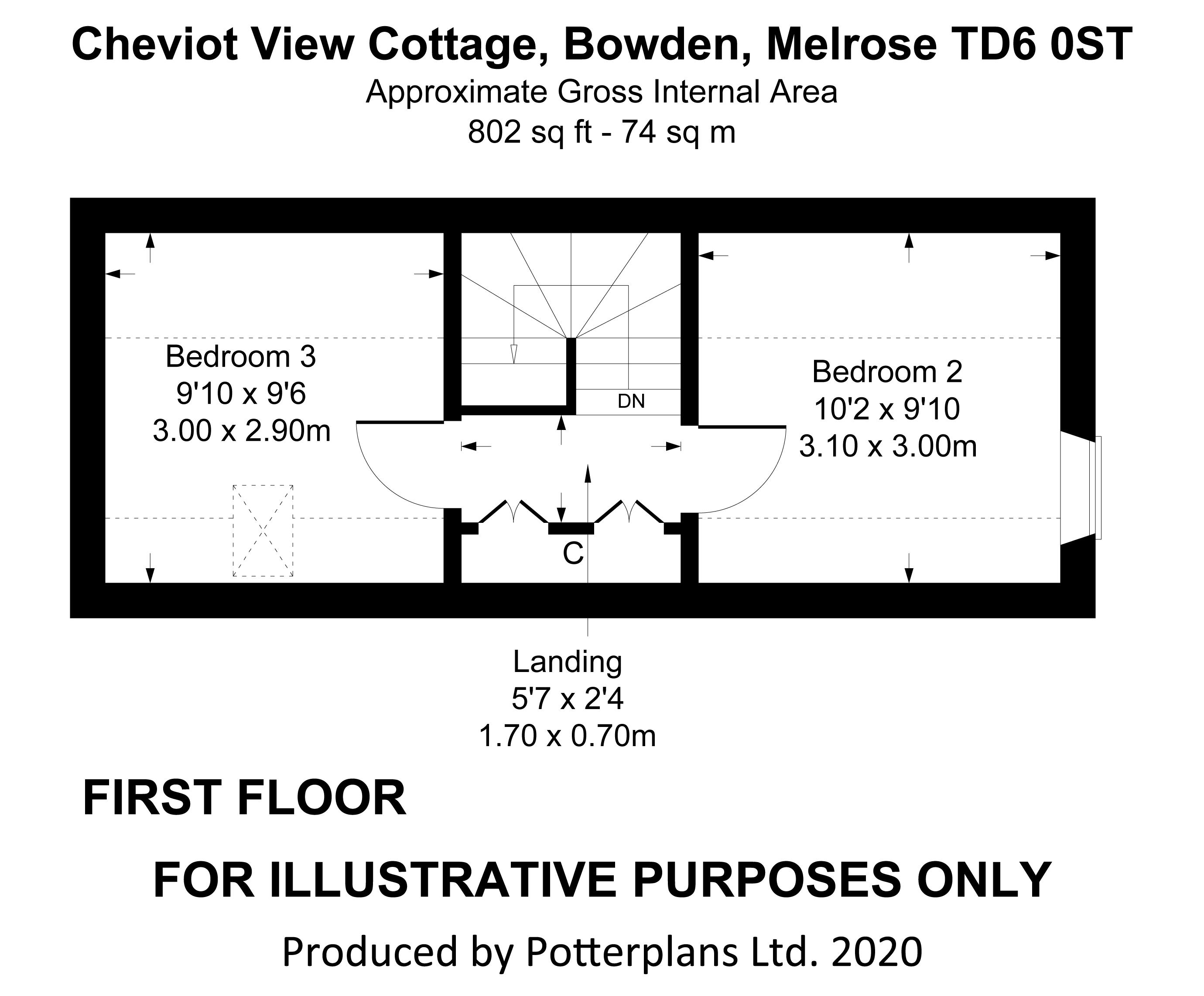 Cheviot View Cottage First Floor