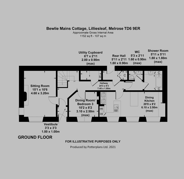 Bewlie Mains Cottage Ground Floor