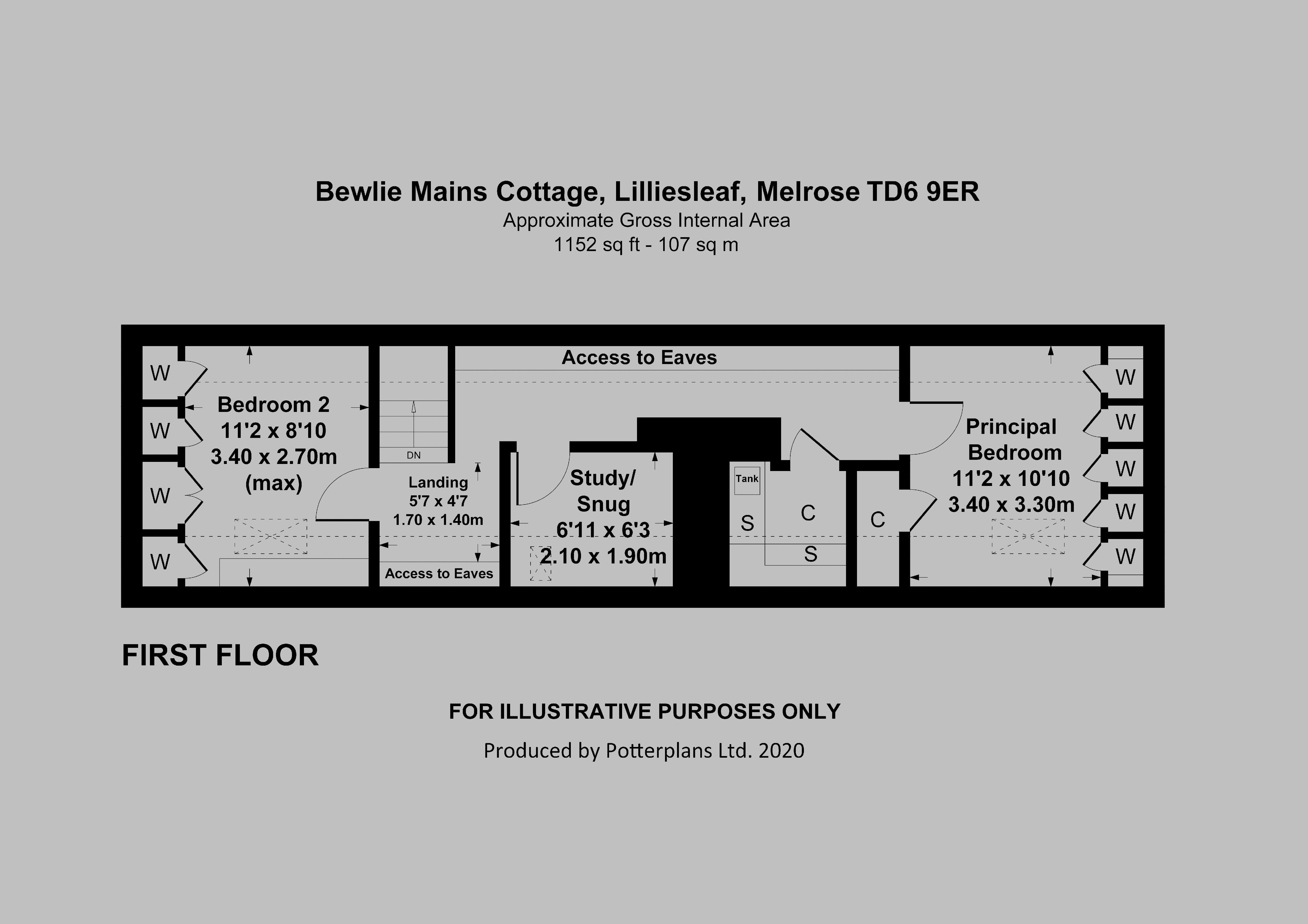 Bewlie Mains Cottage First Floor