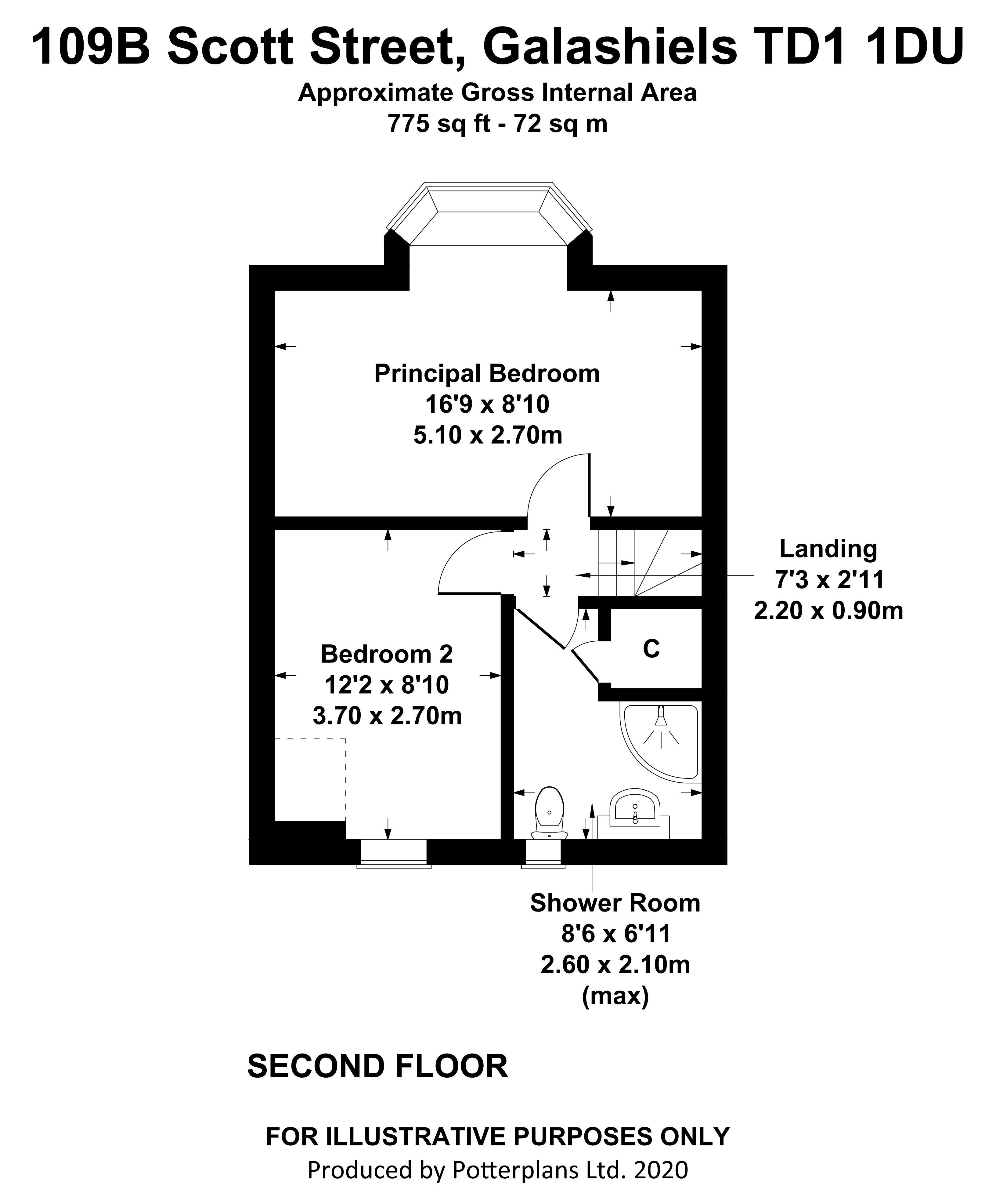 109B Scott Street Second Floor