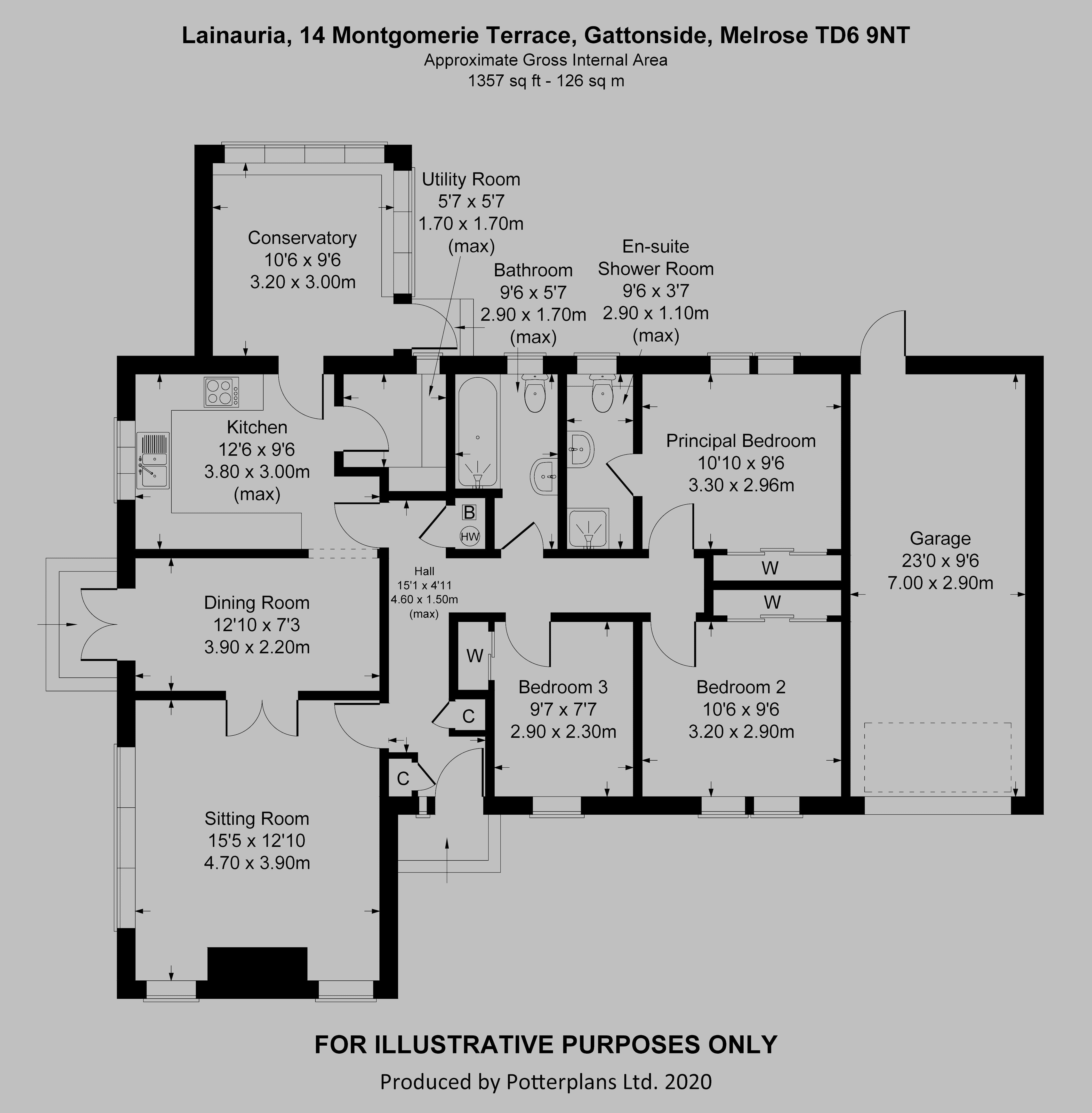 Lainauria, 14 Montgomerie Terrace Floorplan
