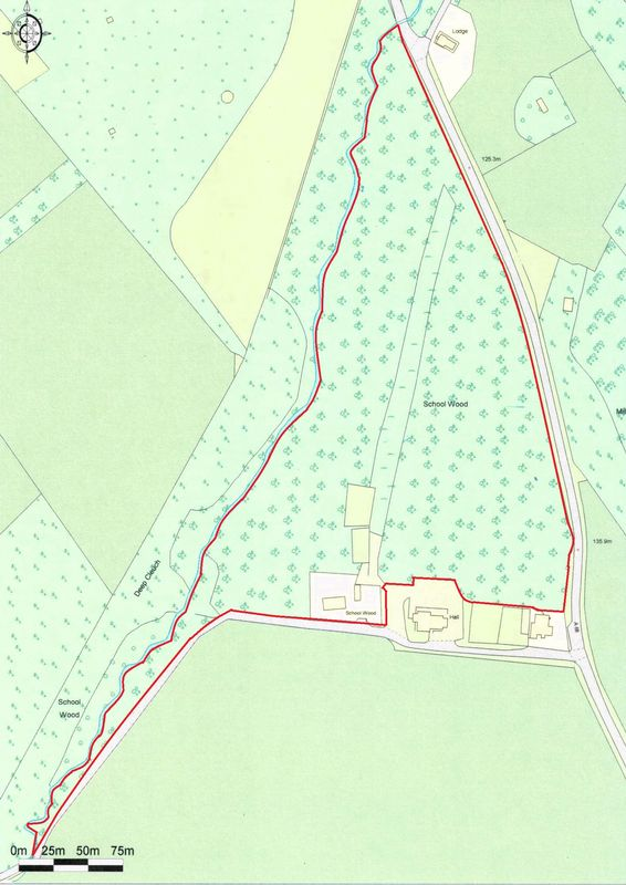 Map of House & Woodland