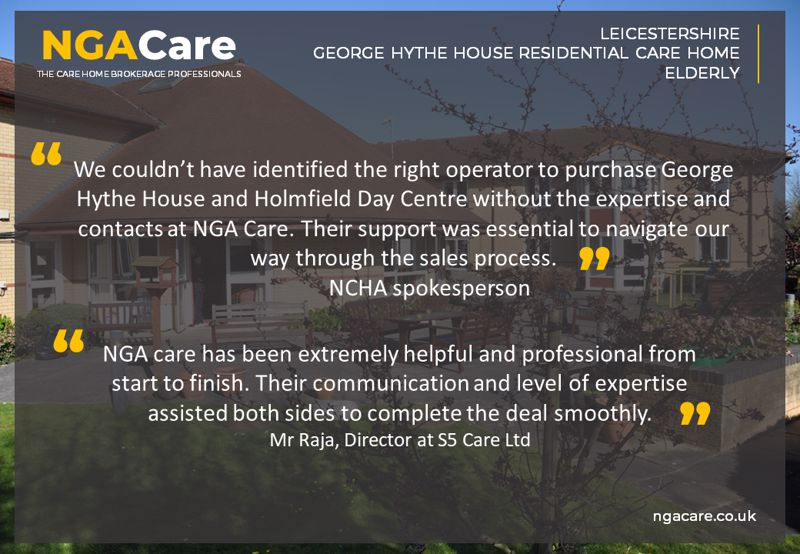 All en suite purpose built care home in Leicester SOLD, more care homes needed