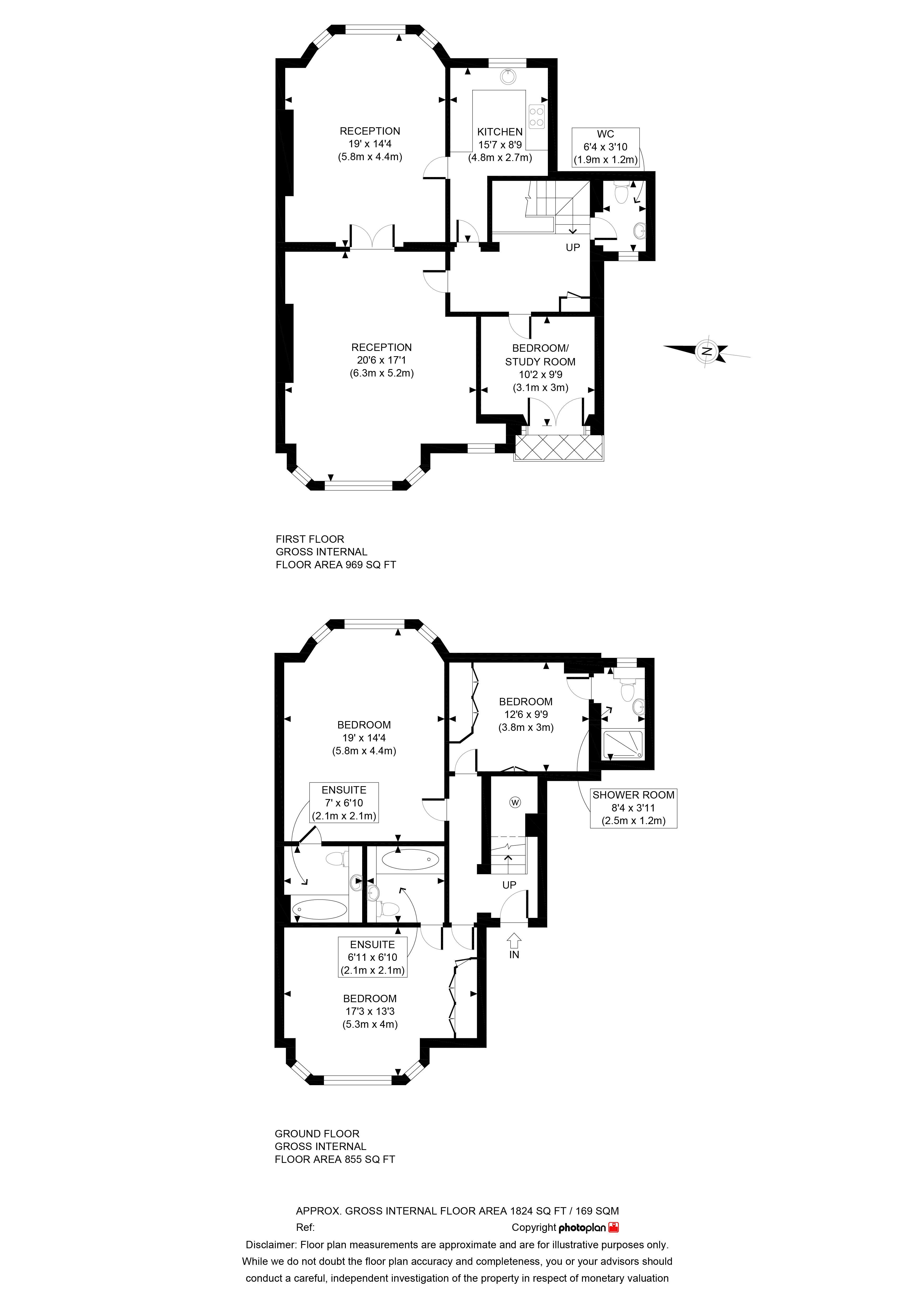 Floor Plan of 3B Albert Terrace