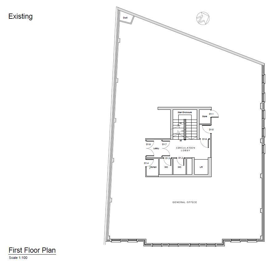 Existing 1st Floor Plan