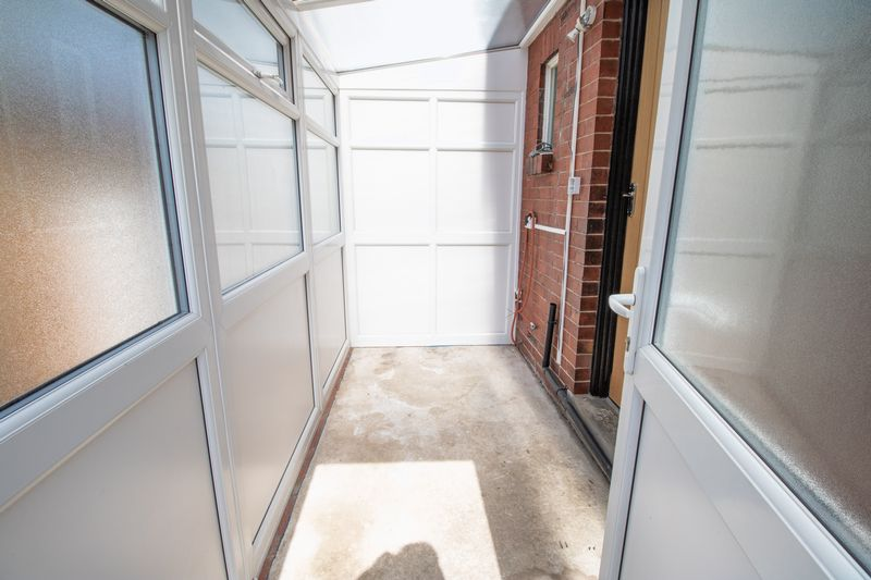 Rear Entrance Porch - Storage Unit