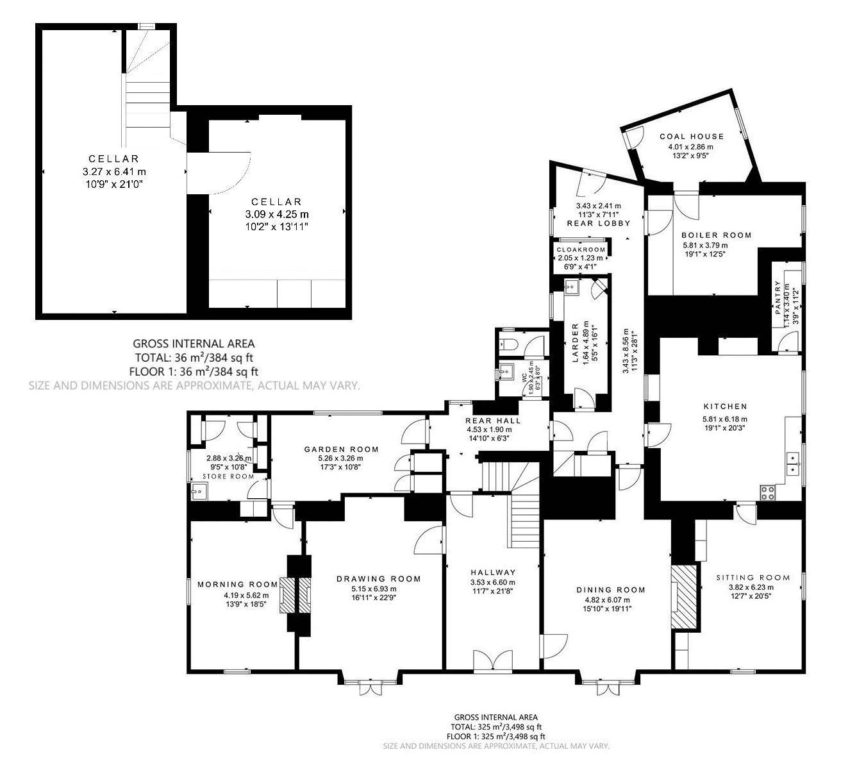 Ground Floor and Cellar
