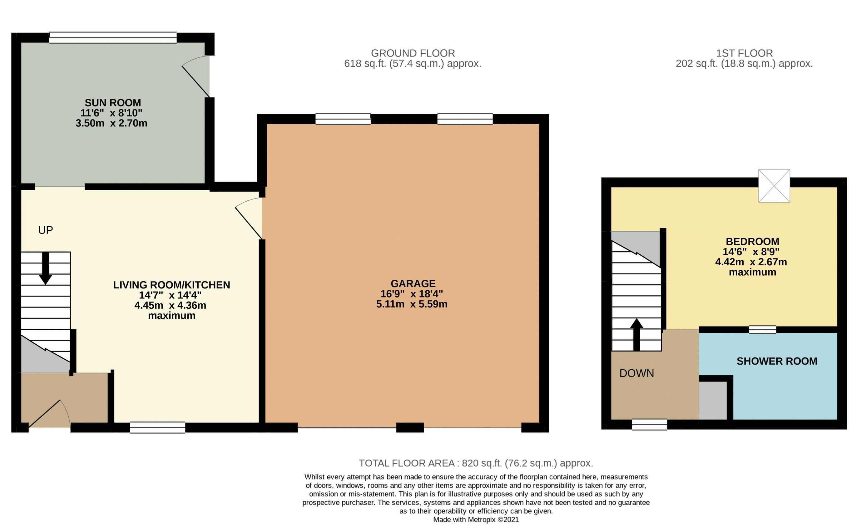 Garage & Potential Annexe Floorplan
