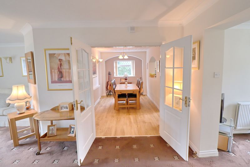 French Doors Into Dining Room