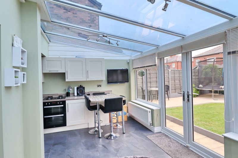 Breakfast Bar and French Doors