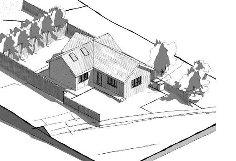 3d rendering of proposed bungalow