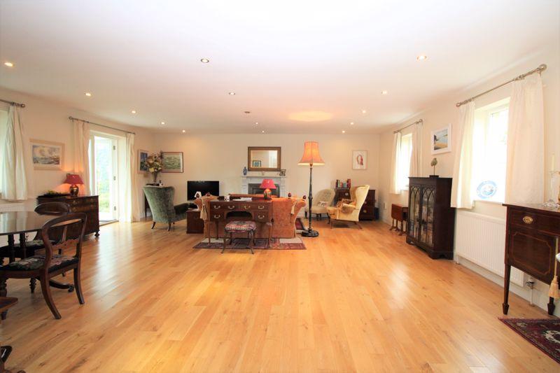 Open plan living with oak floor