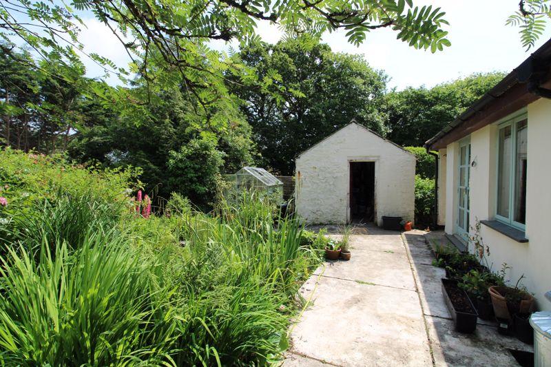 Garden and outbuilding