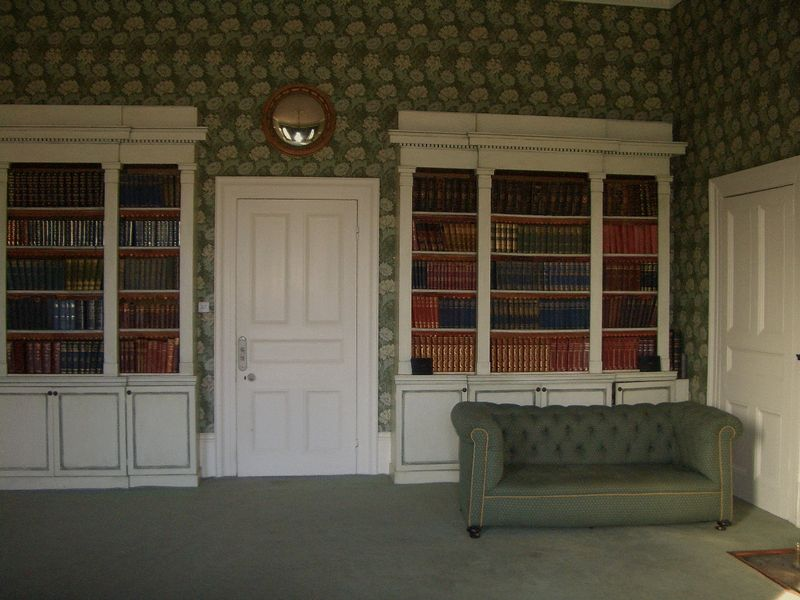 Library bookcase feature