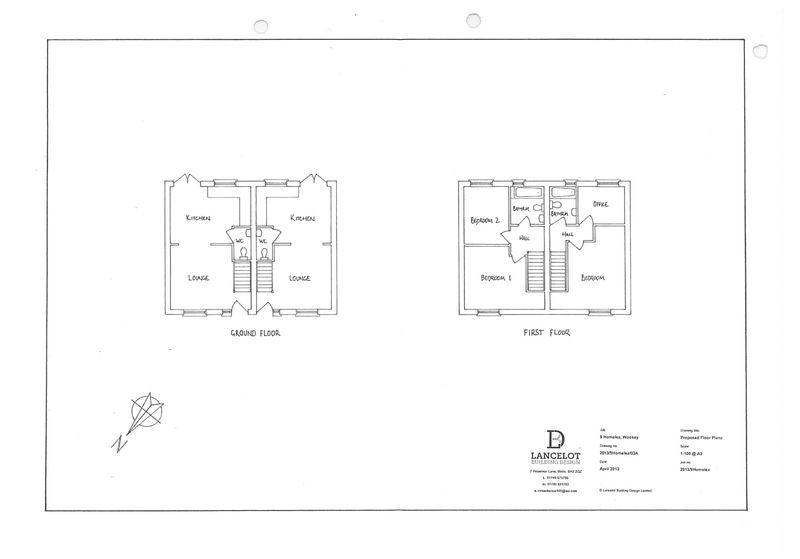 Floorplans of proposed dwellings