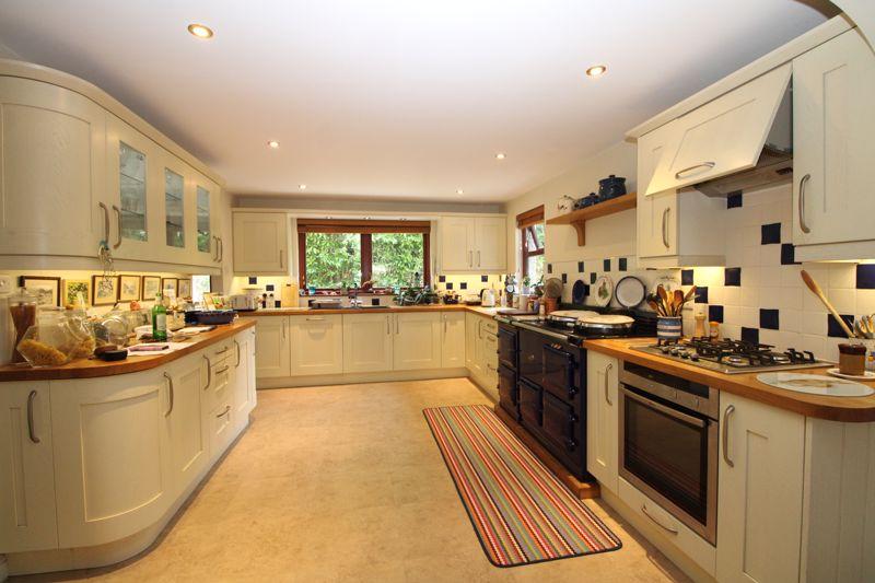 Open plan kitchen with AGA