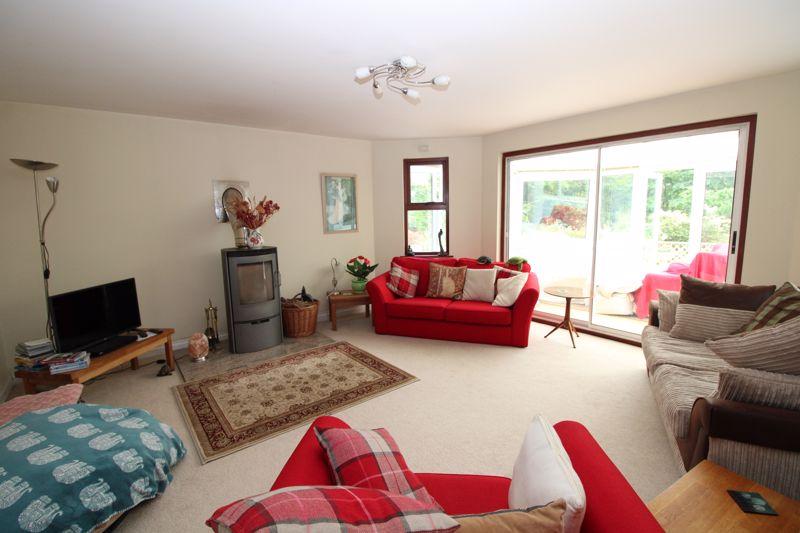 Living room with log burner