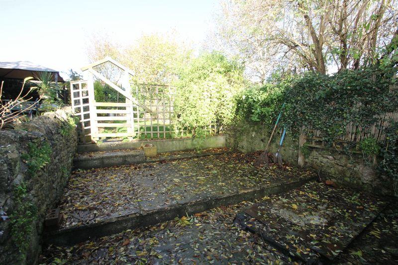 Rear courtyard and garden