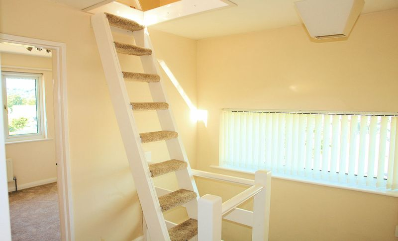 Loft stairs to attic room