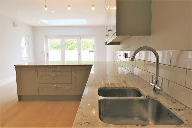 Granite work surfaces and undermount sink