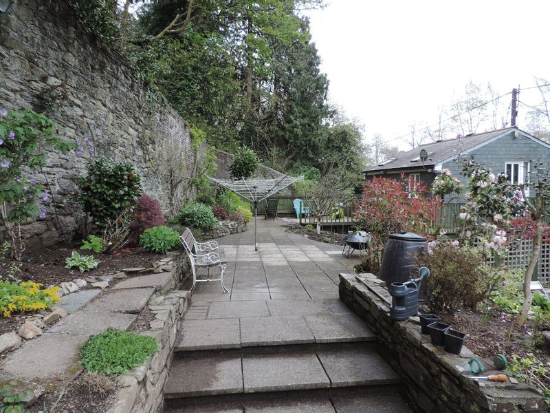 Raised rear garden