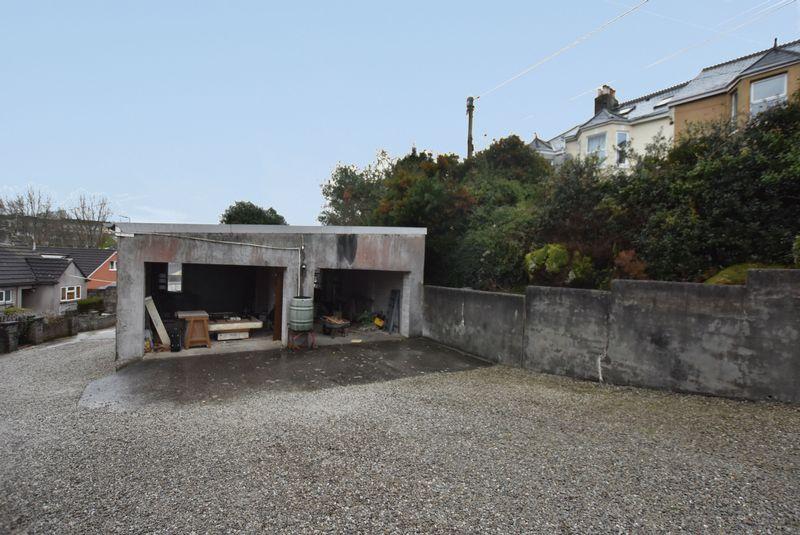 Driveway & Open Garages