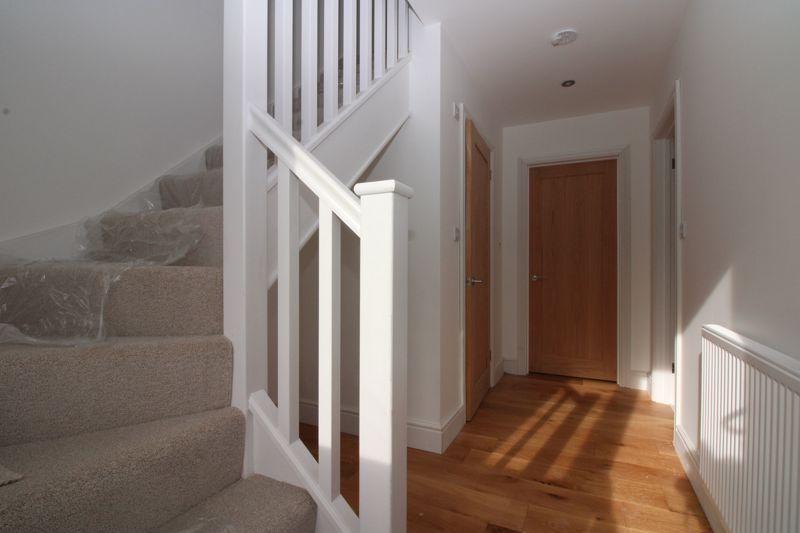 Hallway with timber flooring