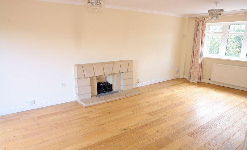 Open fireplace, oak floors