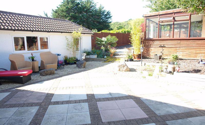 From the patio towards the rear garden