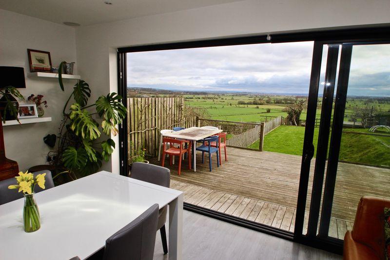 View through kitchen doors