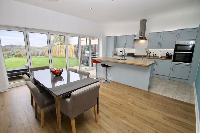 Dining kitchen with views