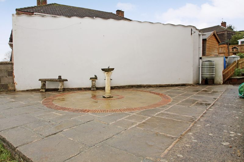 South facing patio to the side