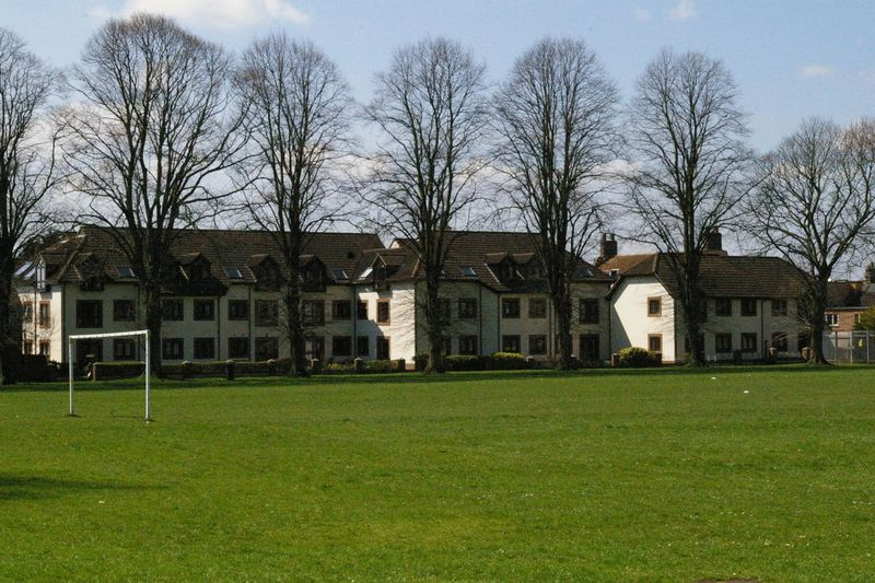 View to the rear of the development