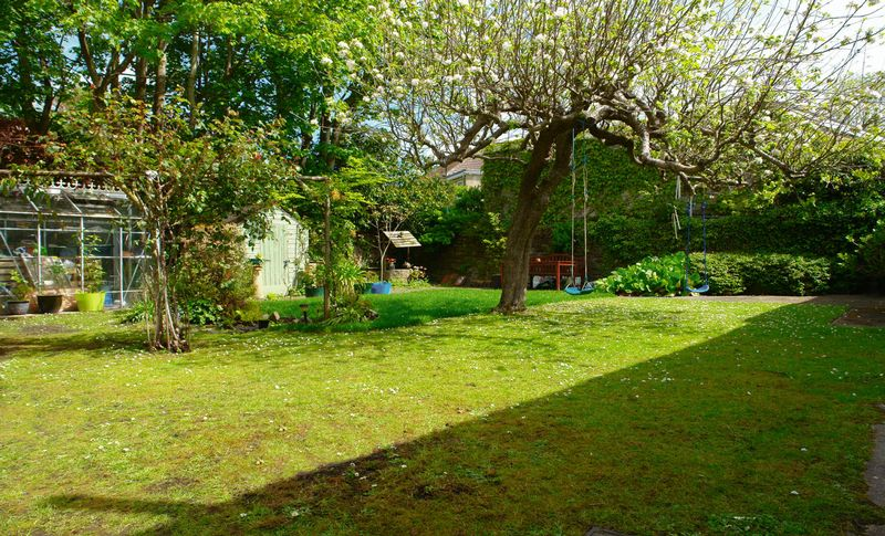 The secluded rear garden