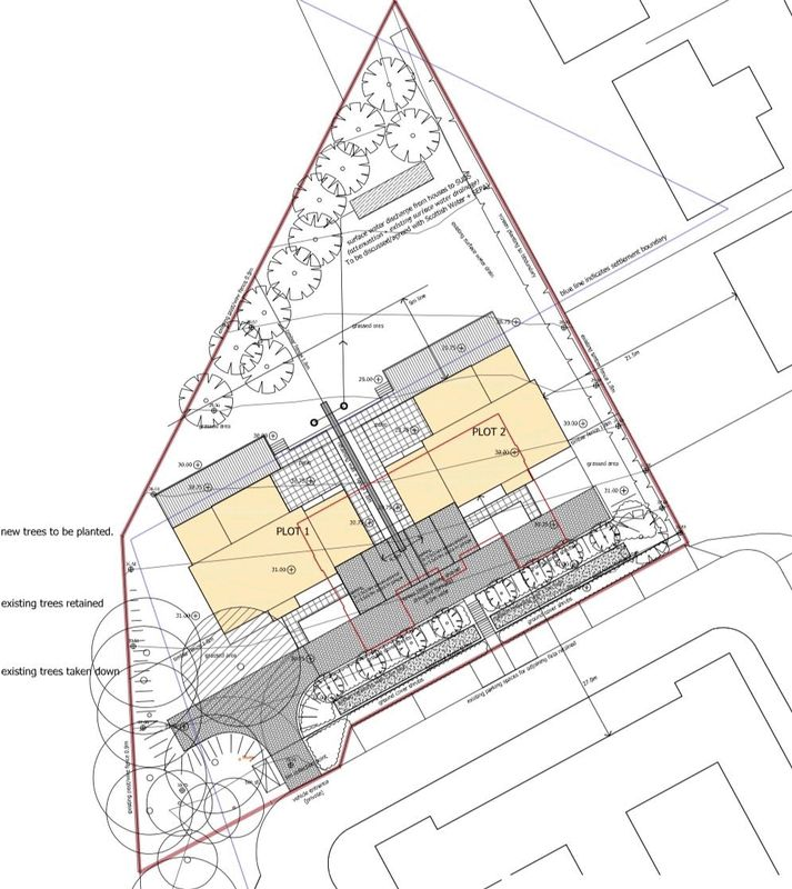 Aeriel view of the Refectory plots