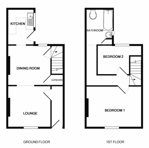 Floorplan - Black and White