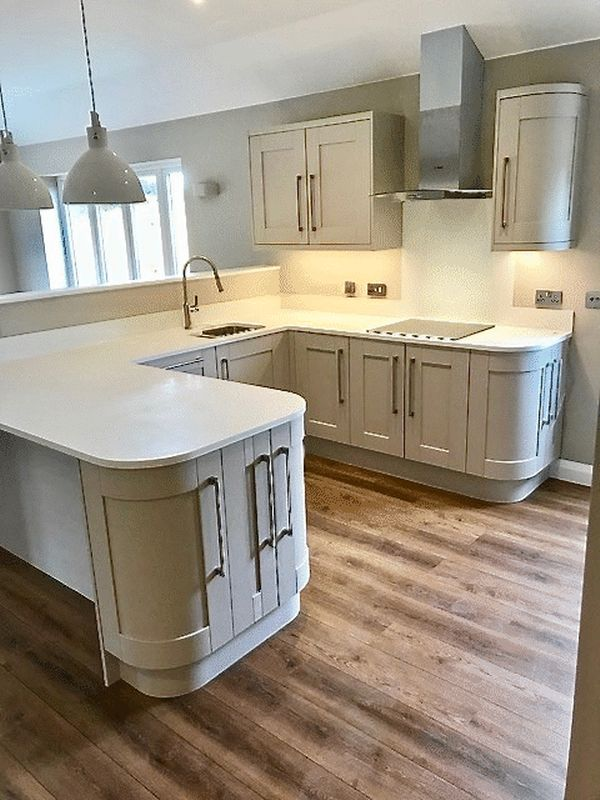 Kitchen fitted with flooring used(example)