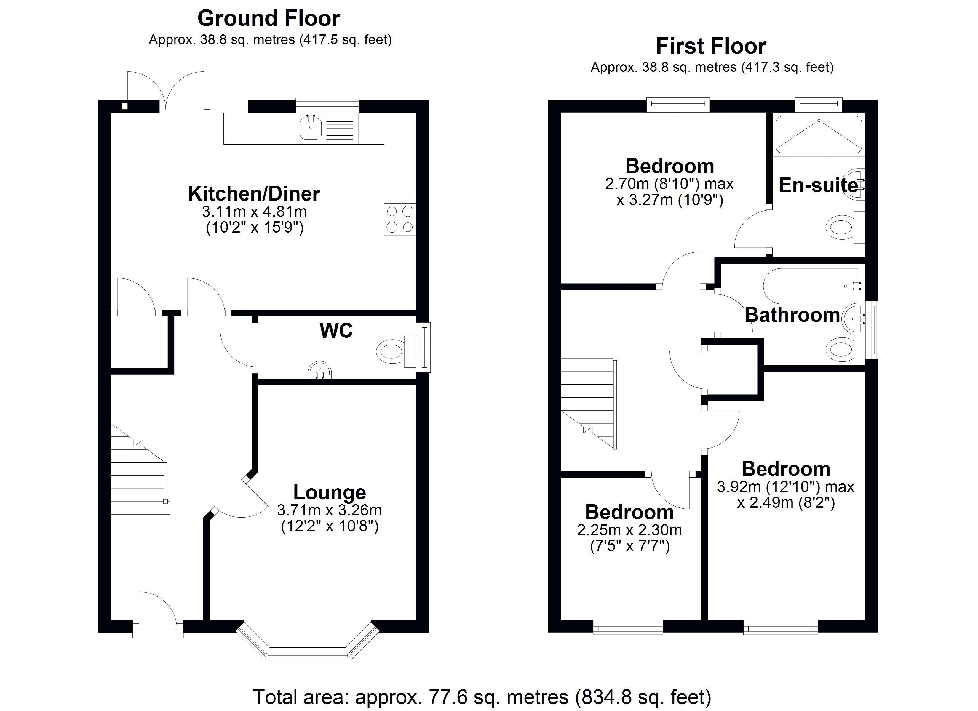 The Alders main floor plan