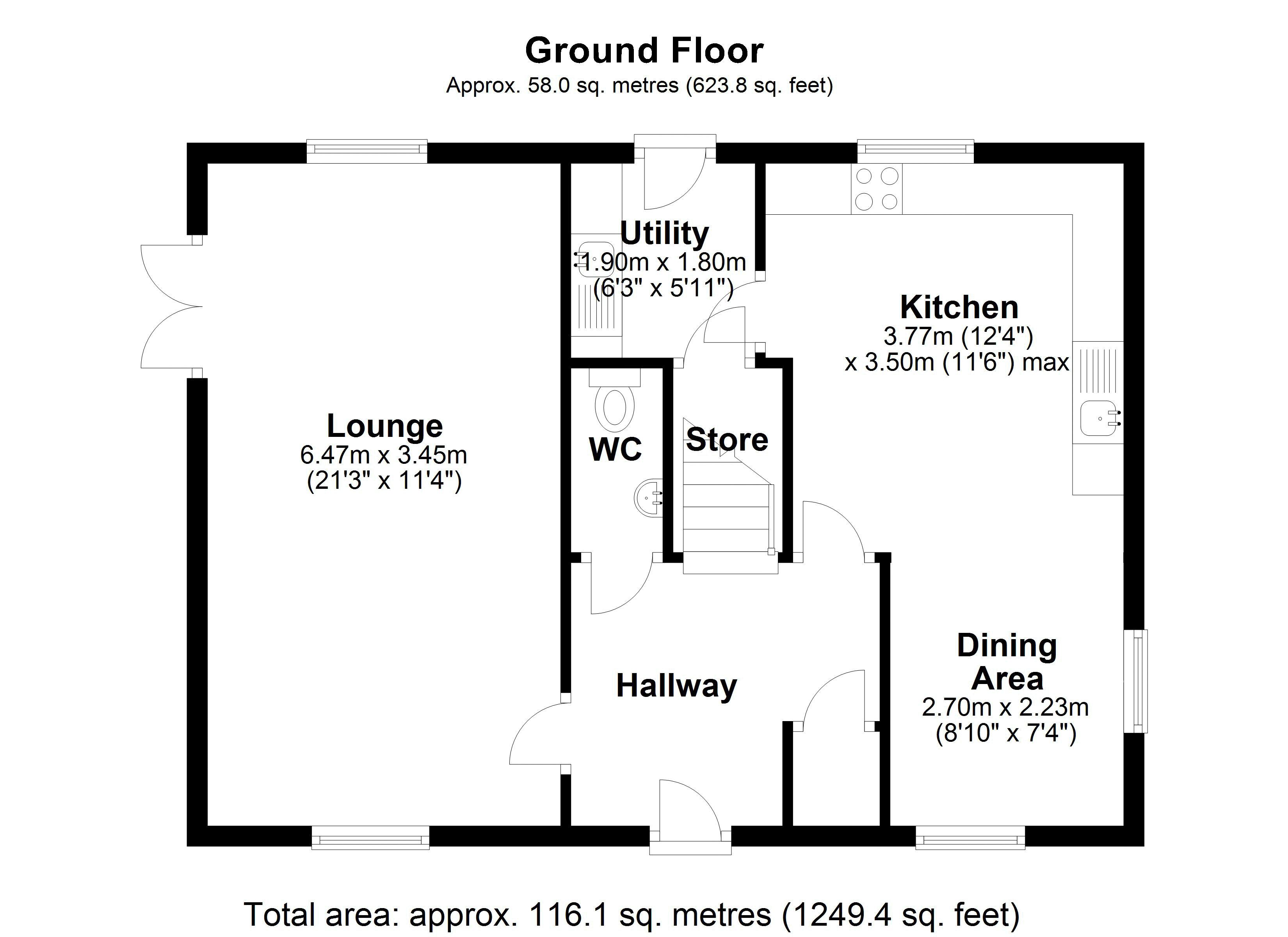 The Tallows Ground floor plan