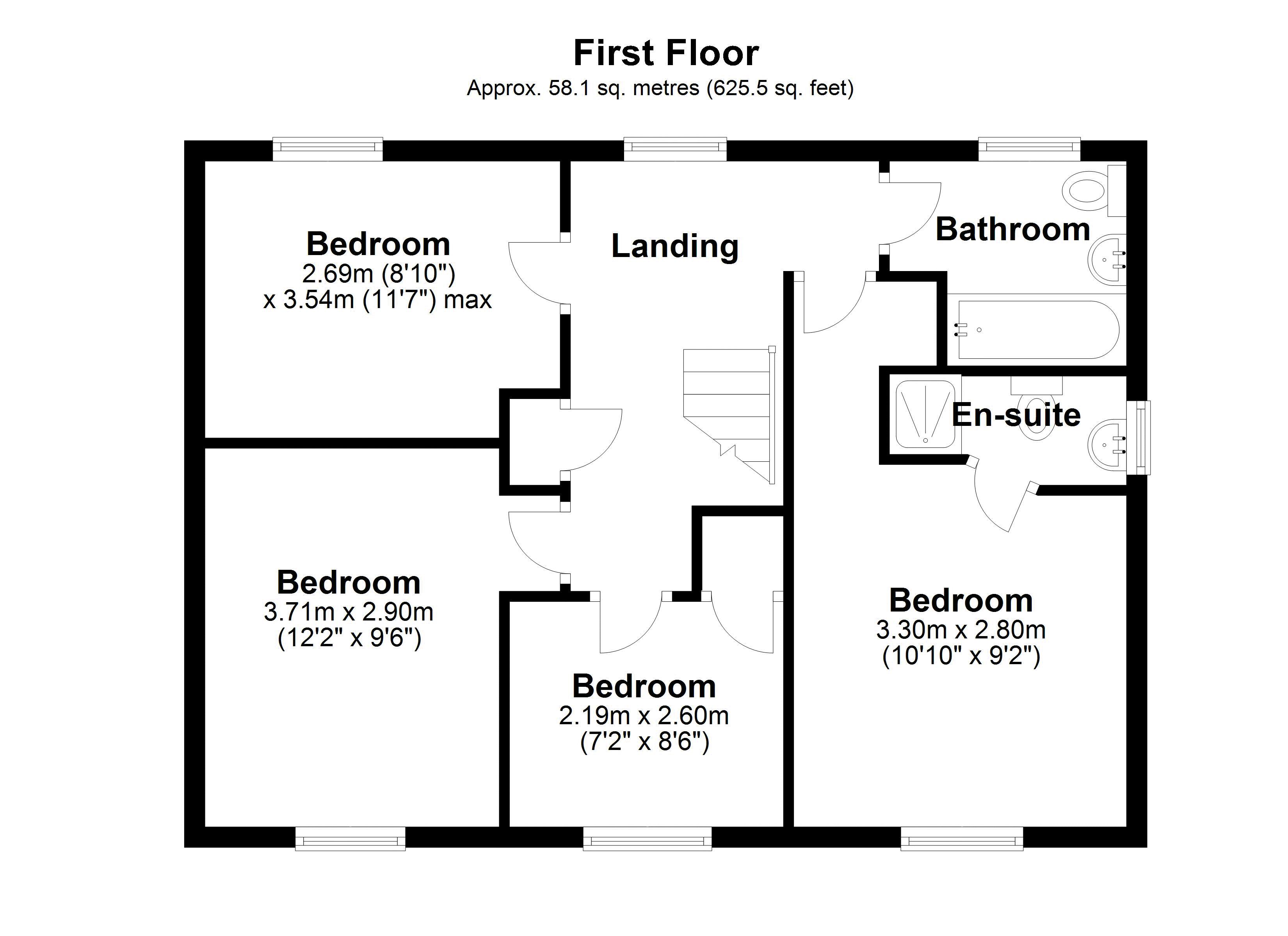The Tallows first floor plan