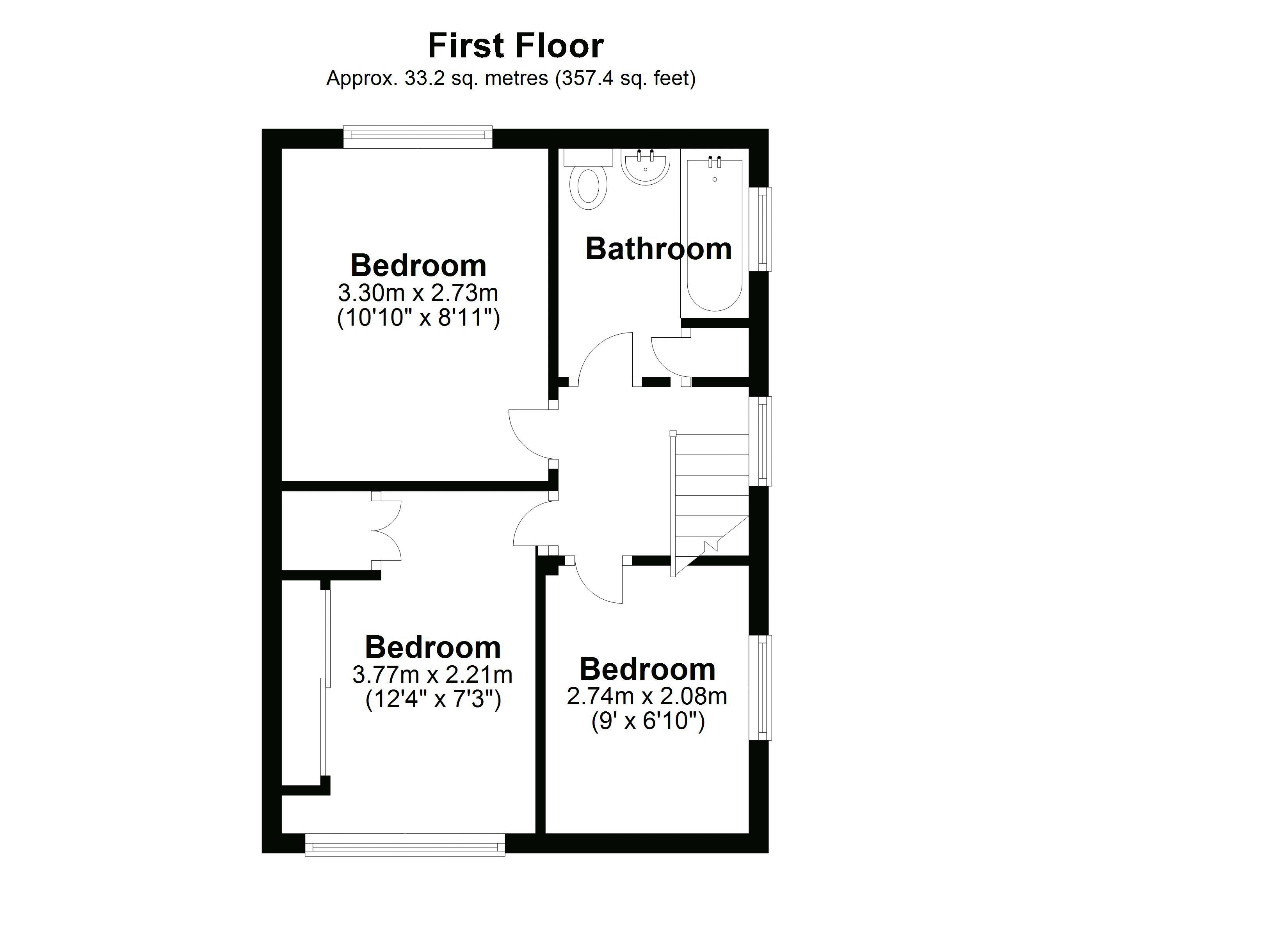 11 Orchard First floor plan
