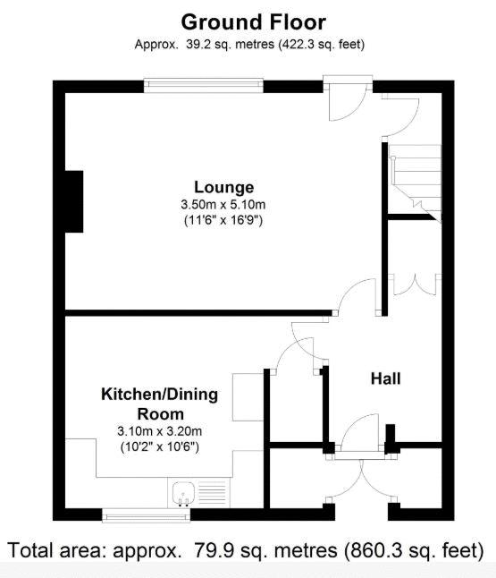 45 Brackenfield Ground floor plan