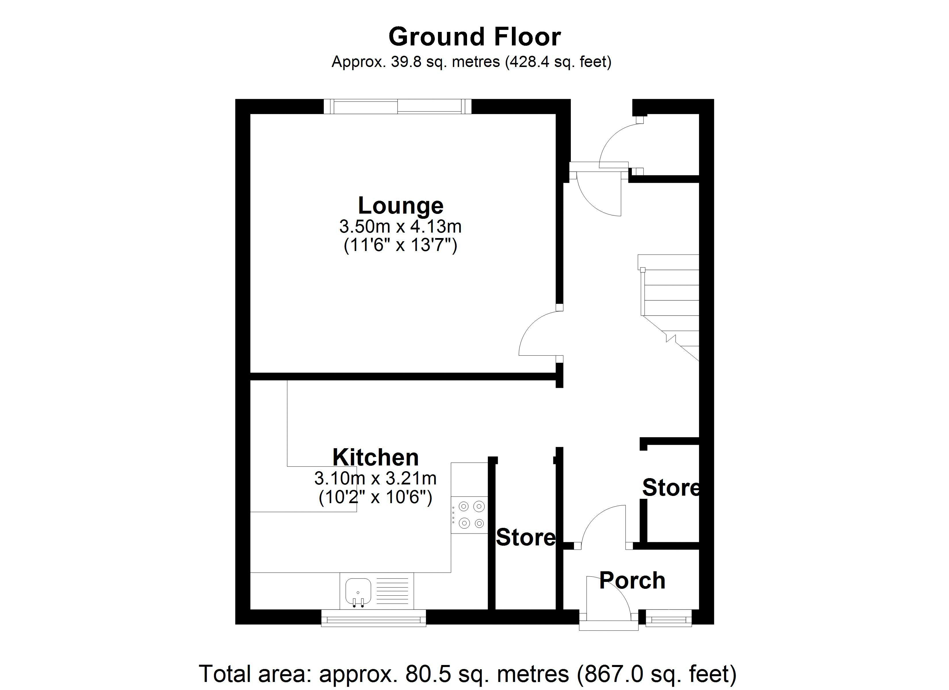 Bishopdale Ground floor plan