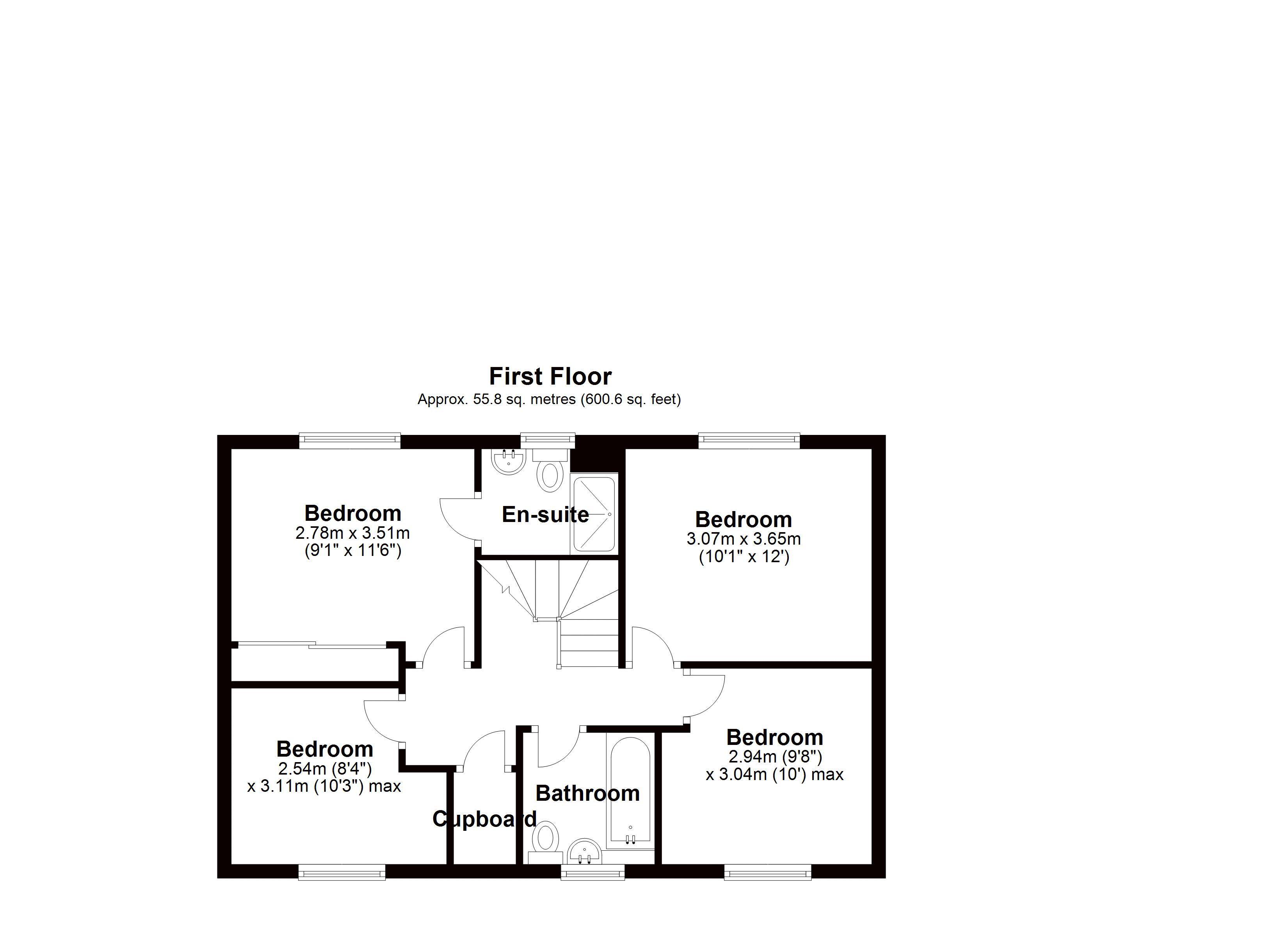 Beddall Way first floor plan